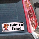 Toddler Girl On Board Sticker