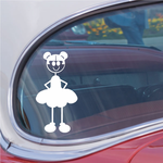Mom Smiling with Hair Buns Decal
