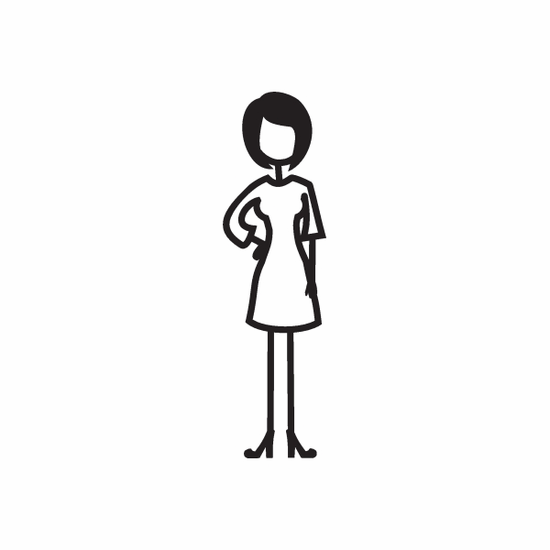 Mom with Right Arm on Hip Decal