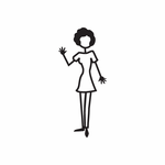 Mom Waving in Dress Decal
