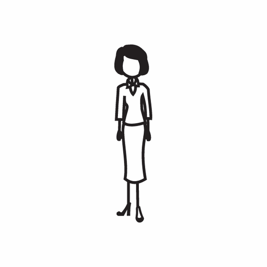Mom in Business Suit Decal