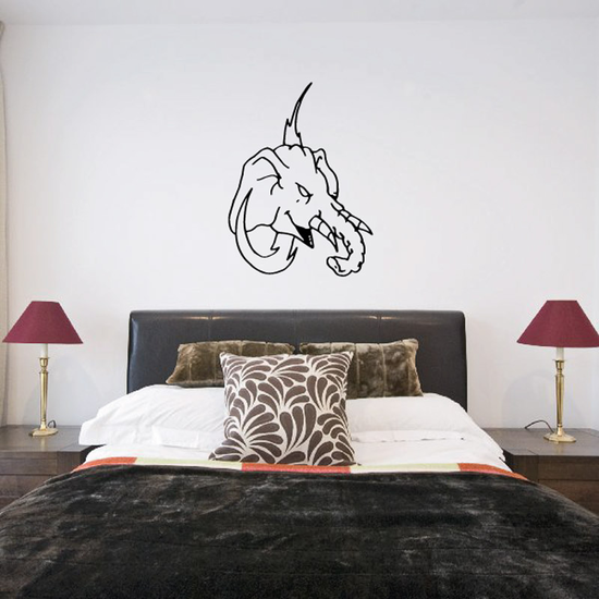Elephant and Jagged Letter Decal