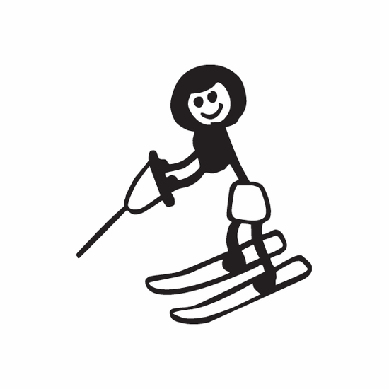 Mom Skiing Decal
