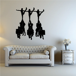 Cheerleading Cheer Wall Decal - Vinyl Decal - Car Decal - NS012