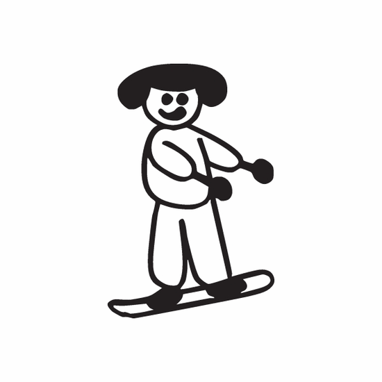 Mom Snowboarding Decal