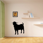 Boer Goat Standing Silhouette Decal