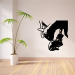 Mother Feeding Young Boer Goat Decal