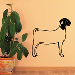 Boer Goat Standing Profile Decal