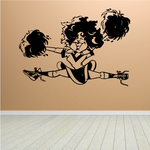 Cheerleading Wall Decal - Vinyl Decal - Car Decal - Bl001