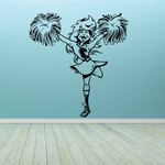 Cheerleading Wall Decal - Vinyl Decal - Car Decal - Bl002