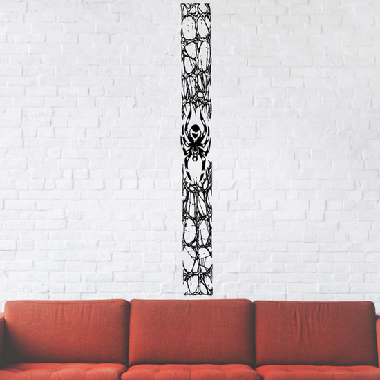 Long Panel Spider and Rocks Decal