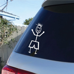 Boy Pointed Hairs Decal