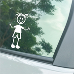 Boy Clothed Curly Hair Decal