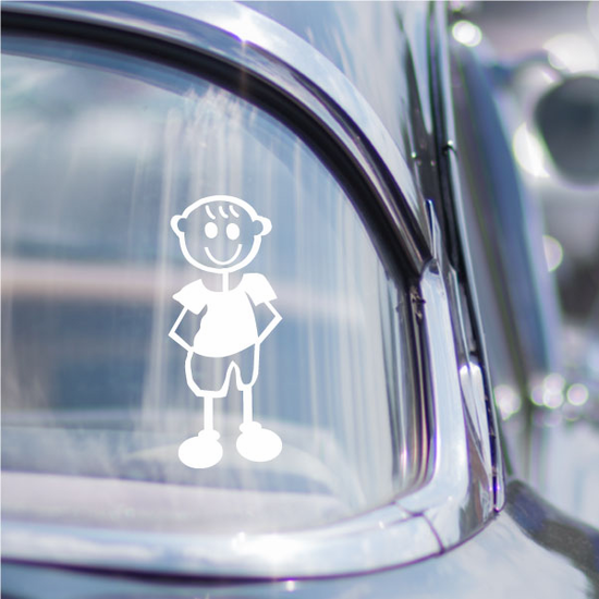 Boy Clothed Arms Behind Decal