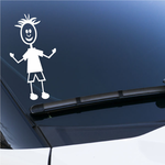 Boy Clothed Arms Bent Out Decal