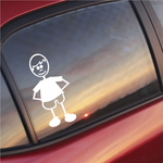 Boy Clothed Hands Behind Decal