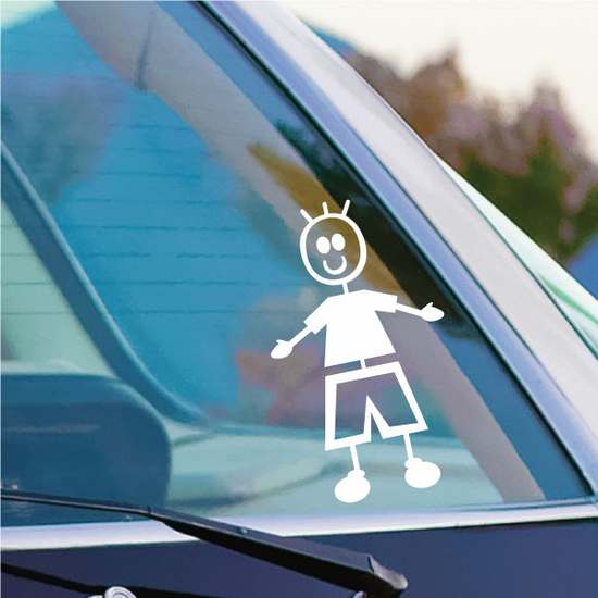 Boy Hands Out Decal