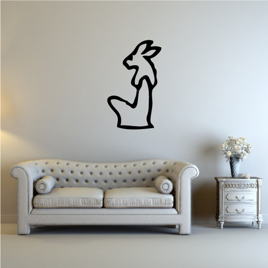 Egyptian Hieroglyphics Rabbit Figure Decal