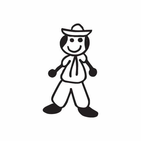 Boy with Hat and Clothes Decal