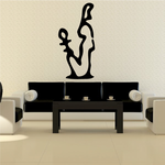 Egyptian Hieroglyphics Seated Official Ankh Decal