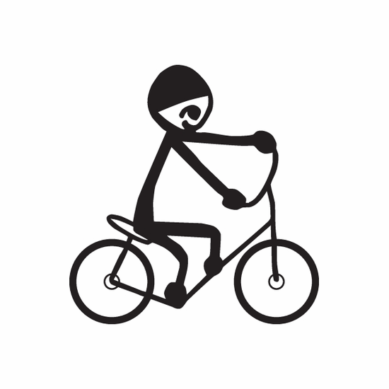 Boy on Bicycle Decal