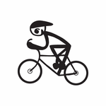 Boy on Touring Bicycle Decal
