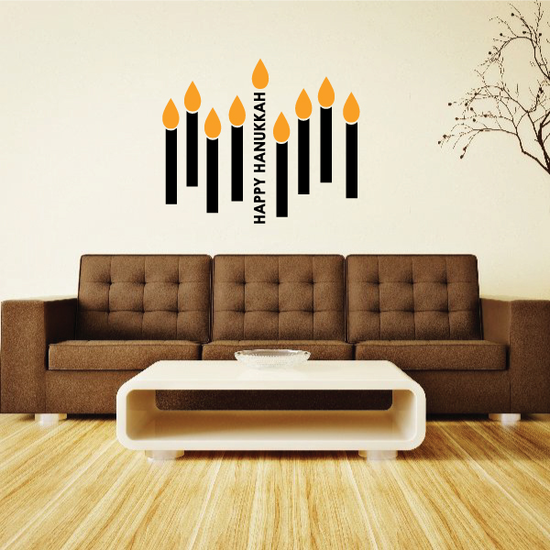Hanukkah Candels Printed Die Cut Decal