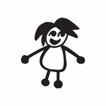 Boy with Long Hair Decal