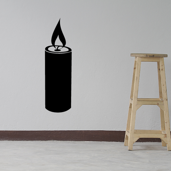 Hanukkah Candle with Big Flame Decal