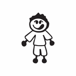 Boy With Big Smile Decal