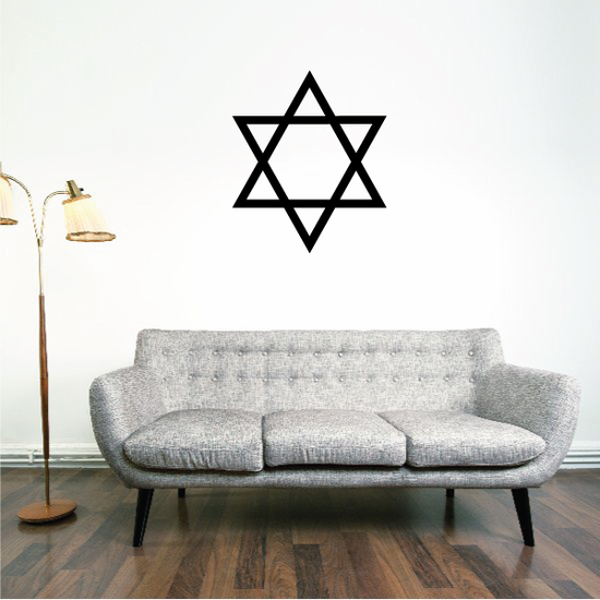 Simple Hanukkah Star of David Decal