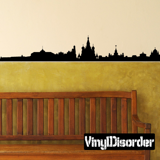 Russia Moscow Skyline Decal