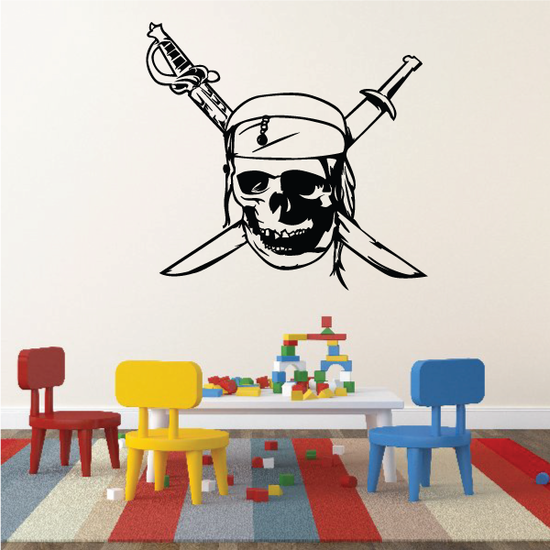 Pirate Skull Decal