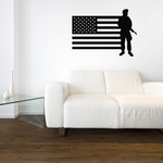 America Flag with Soldier Decal