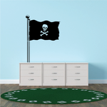 Waving Pirate Flag Decal