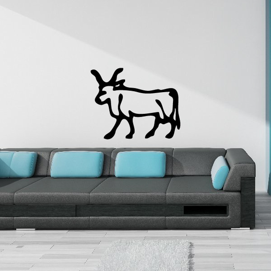 Egyptian Hieroglyphics Bull Symbol Decal