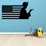 America Flag with Advanced Soldier Decal