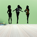 Three Fashion Girls Sticker