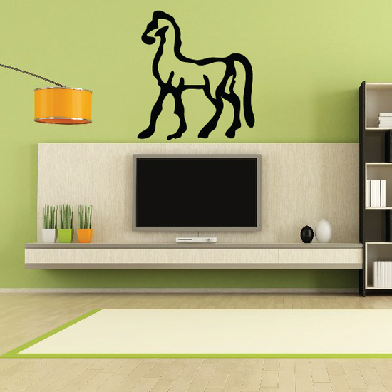 Egyptian Hieroglyphics Horse Symbol Decal