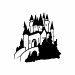 Castle with Forest Decal