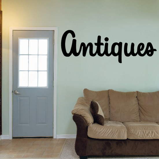 Antiques Wall Decal - Vinyl Decal - Car Decal - Business Sign - MC281