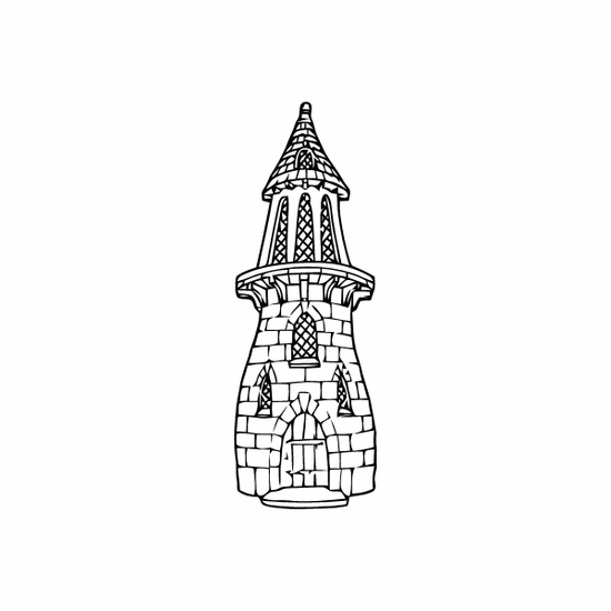 Castle Tower Decal