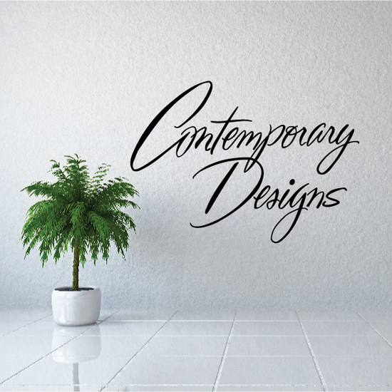 Contemporary Designs Wall Decal - Vinyl Decal - Car Decal - Business Sign - MC285