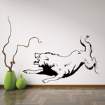 Agitated Snarling Wolf Decal