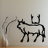 Egyptian Hieroglyphics Bull with Arms Symbol Decal
