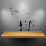 Arctic Wolf Howling Decal