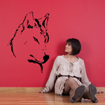 Arctic Wolf Head Decal