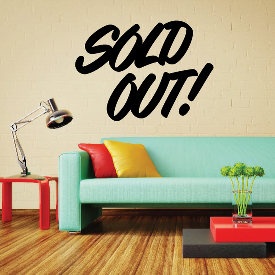 Sold Out Wall Decal - Vinyl Decal - Car Decal - Business Sign - MC300