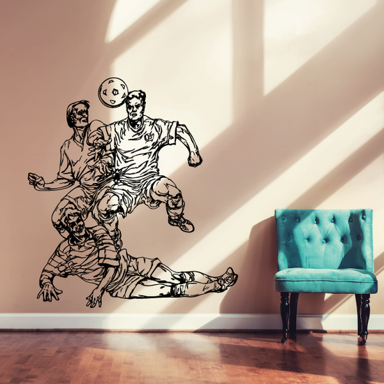 Soccer Wall Decal - Vinyl Decal - Car Decal - CDS095