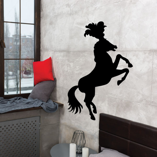 Circus Horse Silhouette Decal